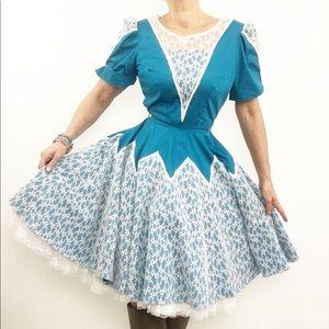 Vintage Western Dance Dress